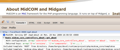 cover image for Using MidCOM3 with FirePHP