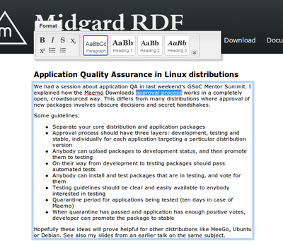 cover image for Using RDFa to make a web page editable