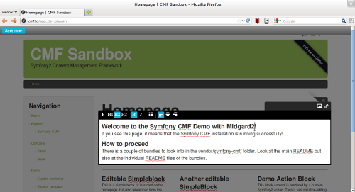 cover image for Running Symfony CMF with Midgard2