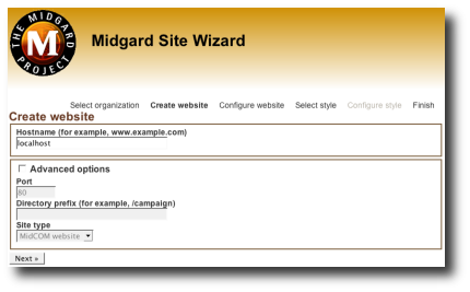 cover image for Site creation wizard runs
