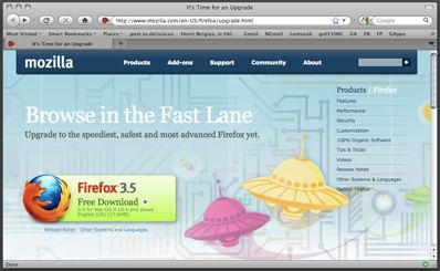 cover image for Firefox 3.5: upgrade now