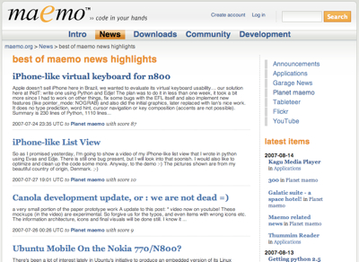 cover image for Maemo Social News launched