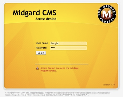 cover image for New login screen for Midgard