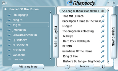 cover image for First look at Rhapsody for N800
