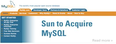 cover image for Sun acquires MySQL