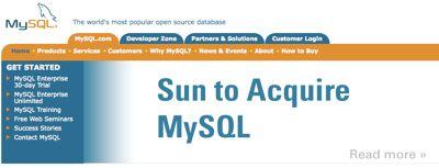 cover image for Sun acquires MySQL