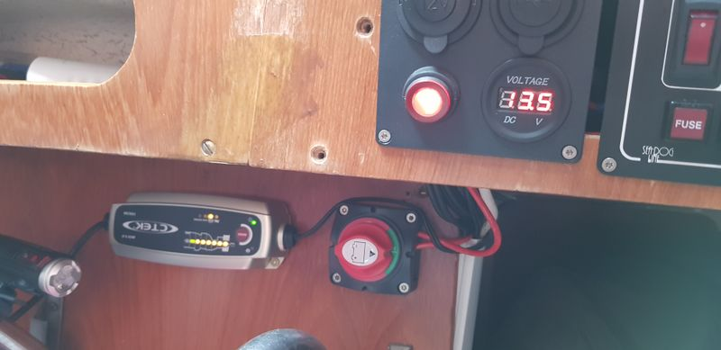 New battery charger and voltmeter