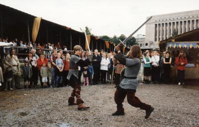 Harmaasudet fighting display in 1998. Photo by Noora Hirvonen