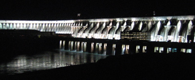 Lights of the Itaipu dam