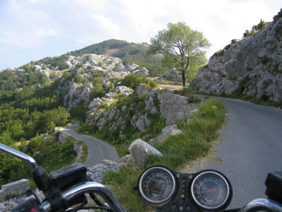 Winding roads in Montenegro