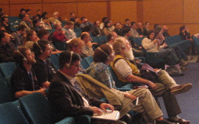 Audience during a HP presentation