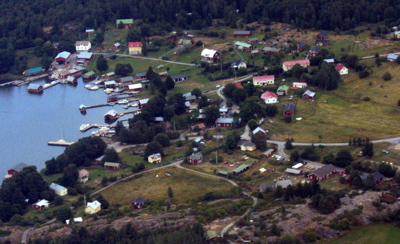 Rosala village from the air