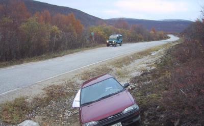 Car crash on the Utsjoki road