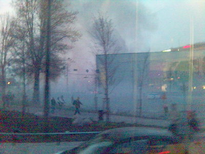 Smoke-filled center of Helsinki