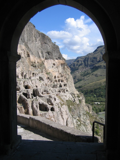 Vardzia as seen from the bell tower