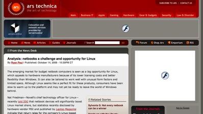 Arstechnica with Flashblock