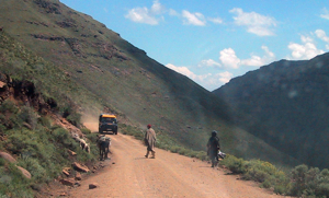 Driving In Lesotho
