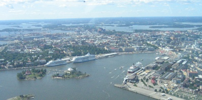 Helsinki South Harbour from Air