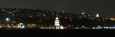 Leander's Tower by night