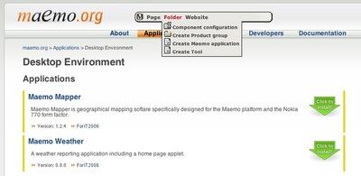 Maemo app catalog screenshot