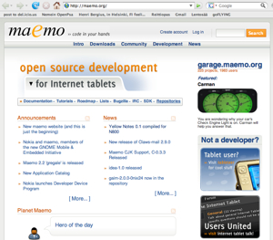 Maemo.org in 2007