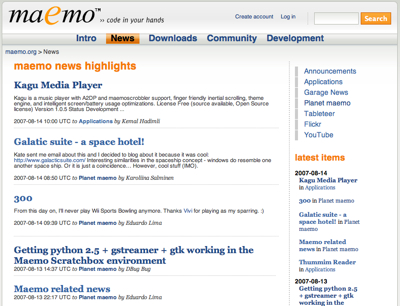 Maemo-Socialnews