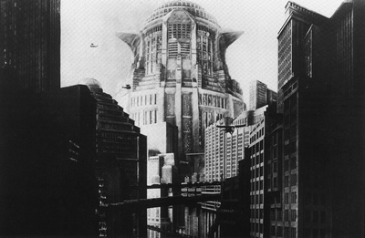 City scene from 1927 film Metropolis