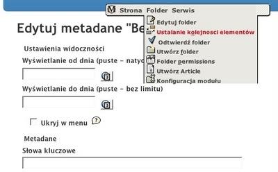 MidCOM 2.6 metadata editor in polish