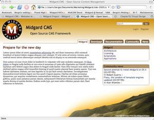 Midgard site circa 2005-07-25