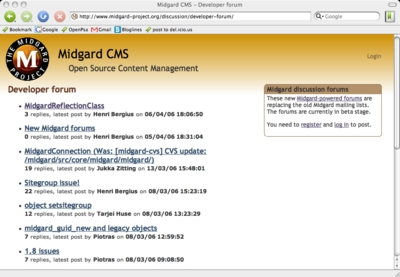 Midgard forums