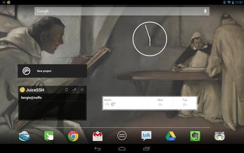 Nexus 10 homescreen