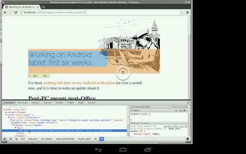 Web debugging via VNC