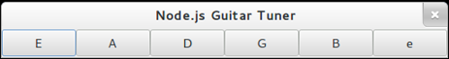 Node.js Guitar Tuner