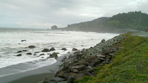 The coastal road in Oregon