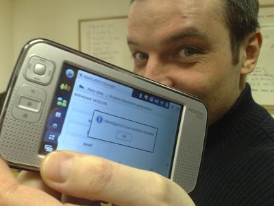 Midgard 2.0 installed on N800 running OS2008