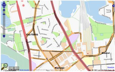 OpenStreetMap of Etu-Töölö, Helsinki