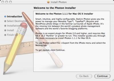 Photon installer on OS X