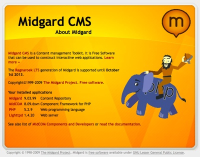 Ragnaland: About Midgard CMS