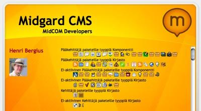 MidCOM icons in Ragnaroek credits screen