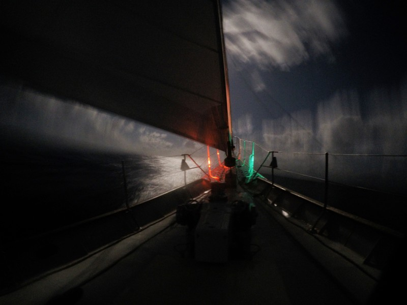 Night sailing on the Atlantic