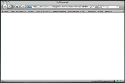 Sampo verkkopankki broken with Firefox 3