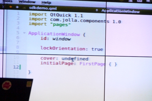QML Window code