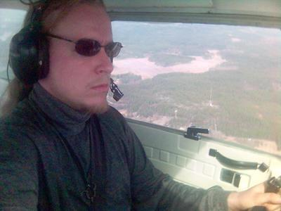 Flying solo near Porvoo