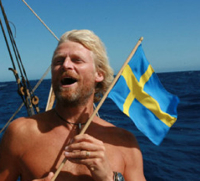 Swedish flag, photo by Tangaroa expedition