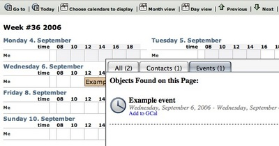Tails displaying hCalendar entries in OpenPsa Calendar