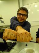 Michael Wechner loves OSCOM. Photo by Roger Fischer, Kaywa