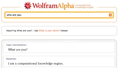 Who is this Wolfram Alpha anyway