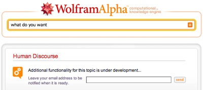 Wolfram Alpha doesn't speak Shadow